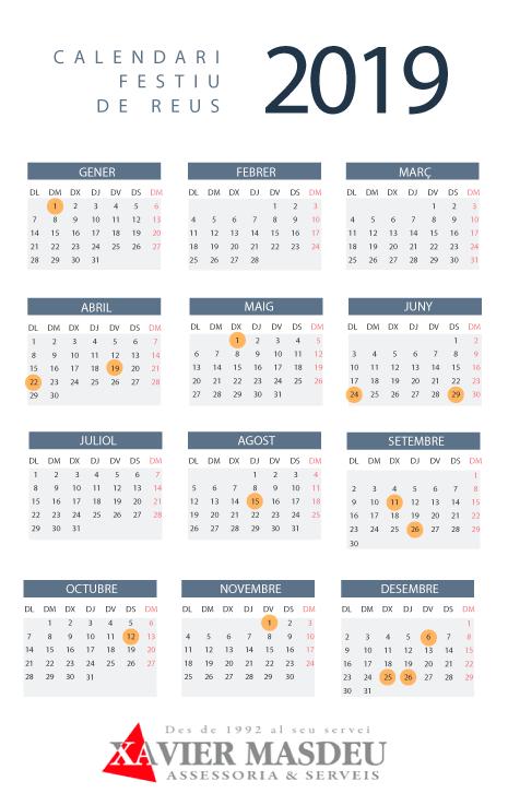 Calendari Festiu de Reus 2019